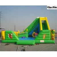 Quality Green forest with animas inflatable slide combo (CYFC-05) wholesale