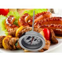 China Mechanical Bimetallic Food Thermometer With Heat Resistant Glass Lens 304 Shell Probe on sale