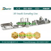 China Stainless Steel 3d 2d snack pellet twin screw extruder processing line on sale