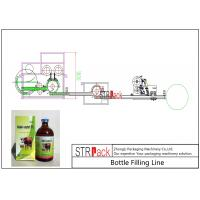 Quality Veterinary Medicine Liquid Bottle Filling Line / Corrosive Liquid Filling Machine Line wholesale