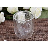 Quality Clear Double Wall Borosilicate Glass Juice Cups Mouth Blown Thermo wholesale