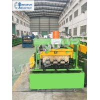 Quality Metal Floor Deck Roll Forming Machine , Hydraulic Cutting Type Cold Roll Former wholesale