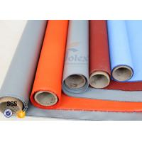 Quality Plain Weave Thermal Insulation Materials Silicone Coated Fiberglass Fabric wholesale