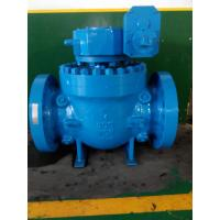 China Cast Flanged Top Entry Ball Valve with Gear Box Low Pressure on sale
