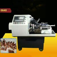 Quality Safe Hydraunic Lathe Turning Machine , Automatic Pipe Shrink Mouth Machine For Brass Ball Valve wholesale