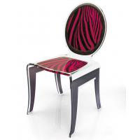 Quality Clear Acrylic Baroque Chair With Artwork , Modern Acrylic Furniture wholesale