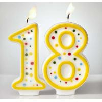 Quality Custom Arabic Number Birthday Candles 1 To 18 With Colorful Dot No Harmful wholesale