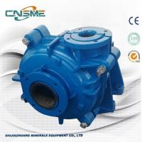 Quality Blue Color Rubber Lined Slurry Pump For Mining And Minerals With Rubber Impeller wholesale
