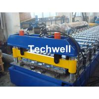 Quality Hydraulic cutting Metal Roofing Cold Roll Forming Machine 13 - 22 Stations TW27-195-780 wholesale