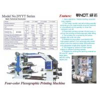 China Four Color Flexographic Printing Machine Customized for Morocco Max web width 600mm on sale
