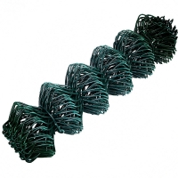 PVC Green Wire Mesh Fence Corrosive Resistance 8 Ft Chain Link Fence for sale