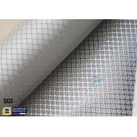 Quality Silver Coated Fabric Aluminized Fiberglass Cloth 0.2MM 260℃ Decoration wholesale