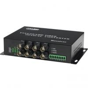 Quality AHD CVI TVI Fiber Optical Transmitter, 8-CH 1080P Video Optical with reverse RS485 data Single Fiber Mode 20KM wholesale