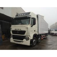 China 8x4 Refrigerated Box Truck with closed FRP Sandwich Panels Container , Cargo Van Truck on sale