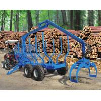 Quality Forestry Timber Log Trailers with Hydraulic Crane Machines for Sale wholesale