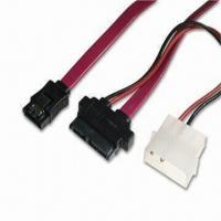 Quality SATA Cables with Slimline SATA 7, 6 Pins Cable Side to 7 Pins Cable Side and B4P/2P 15cm wholesale