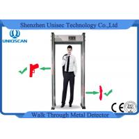Quality 10 Level Alarm Volume Walk Through Safety Gate , Airport Metal Detectors With 33/36 Zones wholesale
