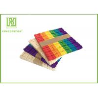 Quality Wooden Stained Colored Flat Craft Sticks With Various Size And Color wholesale