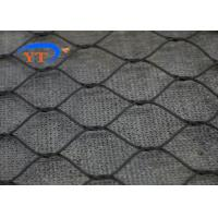 Black Oxide Balustrade Cable Mesh , Stainless Steel 304 Zoo Security Mesh Fencing
