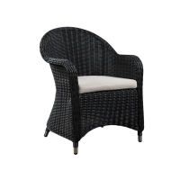 Quality Sturdy Dining 640mm Length 855mm Height Rattan Wicker Chairs , Black Cane Chair wholesale