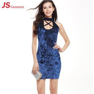 Quality Halter Neck Summer Maxi Dresses For Women Velvet OEM Service wholesale