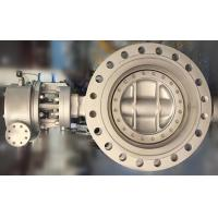 China Flanged Type API 609 Triple Offset Butterfly Valve With Cast Steel Material on sale
