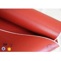 Quality 1mm High Temperature Bright Red silicone coated glass fabric 3784 850g/m2 wholesale