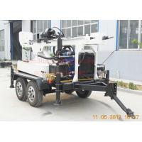 China 150m DTH Mud Drilling Trailer Mounted Drilling Rig With 45KW Diesel on sale