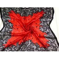Quality Ladies 2013 Fashion 100% silk big/large Square Silk Scarf/red and grey flower scarves for women wholesale