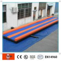Quality OEM Outdoor Long Safety Inflatable Sports Games Inflatable Gymnastics Mats For Physical Exercise wholesale