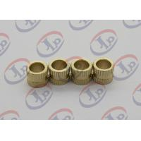 Weight 0.0005KG Knurling Brass Machined Parts  Unthreaded Plastic Nut Inserts