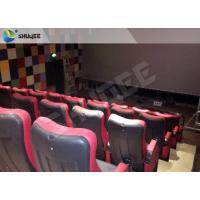 Quality Red 4D Movie Theater Simulator System Equipment With Motion Chair 3 / 4 / 5 Seats A Platform wholesale