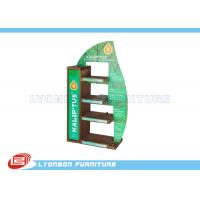 Quality Mall Center Green Solid Wood Countertop Display Stand MDF , 450mm * 200mm * 700mm wholesale