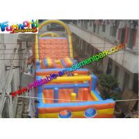 Quality Sewed Inflatable Outdoor Play Equipment With Climbing Wall For Fun wholesale