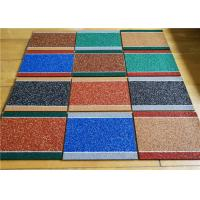 Cheap Durable Colored Rubber Granules , Heavy Duty Odorless Mesh Crumb Rubber for sale