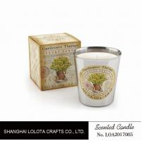 Quality Beautiful Smelling Home Scents Candles , Aromatherapy Soy Candles Amber Fragrance wholesale