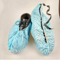 China Slip Resistance Plastic Shoe Protectors , Disposable Waterproof Shoe Covers on sale