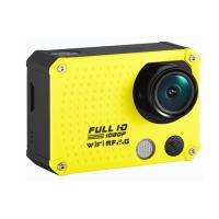 Quality Custom 60m Waterproof Full HD 60fps 1080P Action Camera / Wifi Sports Cameras 12MP wholesale