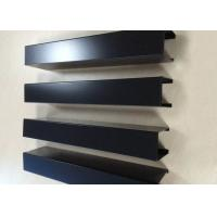 Cheap Powder Coated Aluminium Channel Profiles Slotted Wood Grain Different Sized for sale