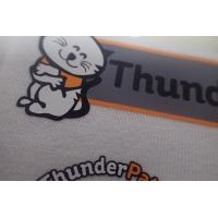 China Anti Sublimation Heat Transfer Fabric Labels For Work Wear Shinny And Matte Logo on sale