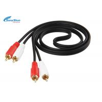 China Two RCA Audio Cable Wire , Converter Video AV Audio Cable Extension Cord on sale