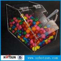 China Manufacturing acrylic flip lid candy box ,Snacks boxes on sale