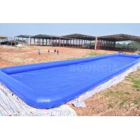 Quality Custom Blue Color Largest Inflatable Water Pool / Square Above Ground Water Pool wholesale