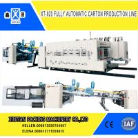 Quality Automatic Paperboard Printer Slotter Die Cutter  Folder Gluer Bundling Machine wholesale