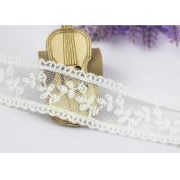 Quality Scalloped Floral Embroidery Cotton Nylon Lace Trim For Ivory Lace Wedding Dress wholesale