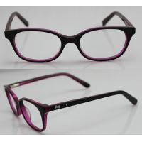 Quality Rose Red Children Acetate Optical Eyeglass Frames for Oval Face wholesale