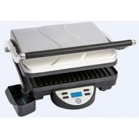 Buy cheap LCD Display Digital control 4 slices panini grill SS Housing with Aluminum Arms from wholesalers