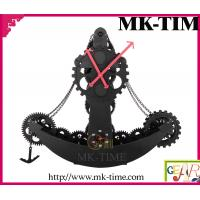 MK-TIME Black Gear Moving Gears Clock Of Pirate Ship HY-F028-B