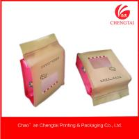 Matt Material Candy Packaging Plastic Block Bottom Bags With Clear Window