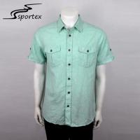 China Flannel Woven Casual Outdoor Clothing Light Weight Mens Summer Linen Shirts on sale